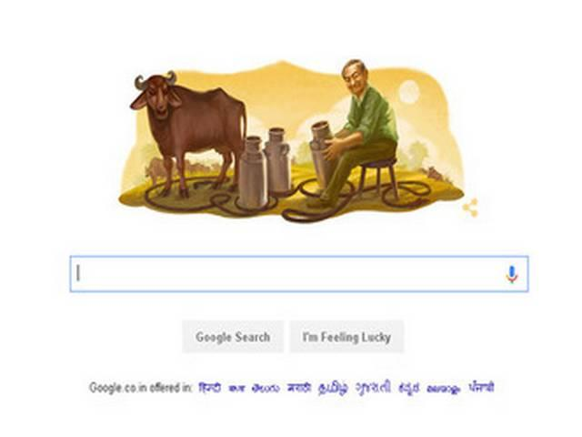 google doodle pays tribute to verghese kurien