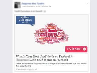 most used words on facebook might sell user's info