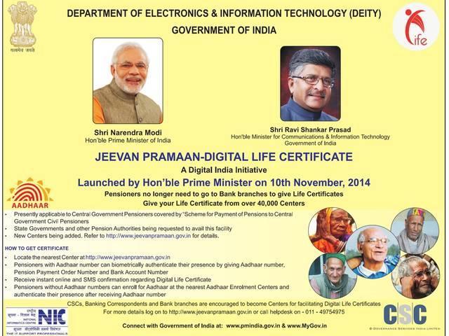 jeevan pramaan_pm modi_online pension