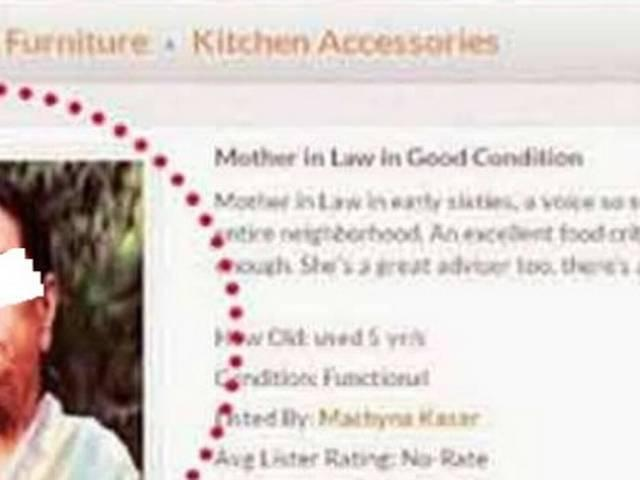 For sale – one mother in-law in good condition