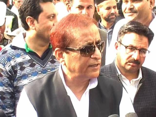 azam khan says that rss members don't marry because they are gays