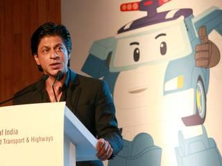Actor Shah Rukh Khan at the  launch of Hyundai Safe Move – Traffic Safety Campaign in New Delhi