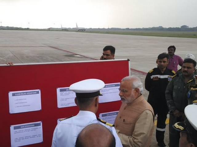 PM Modi arrives for Chennai to take stock of the situation