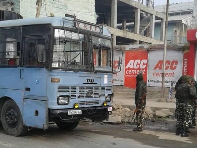 Three jawans injured after terrorists attacked CRPF convoy in Bijbehara, Anantnag(J&K)