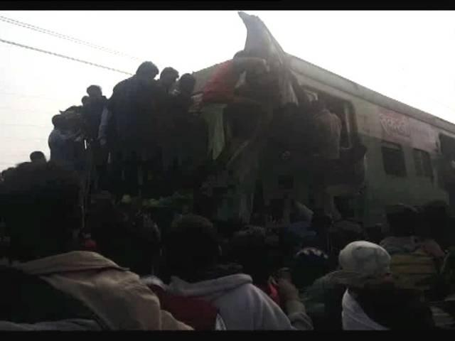 two trains collide in haryana's palwal