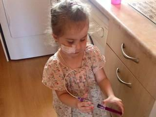 Kissing her little girl burns mother's lips' as deadly condition gives her salty skin