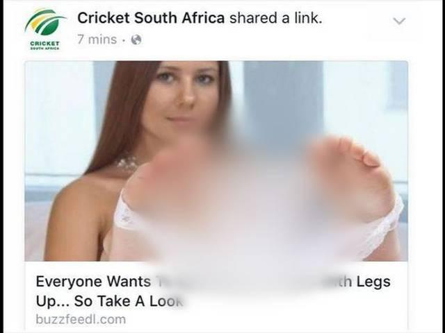 Cricket South Africa's official Facebook page hacked, explicit content posted – Times of India
