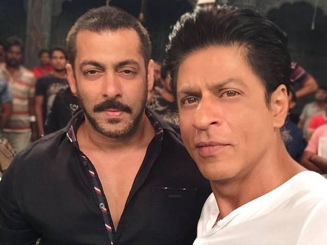 Salman-Shah rukh shooting for bigg boss