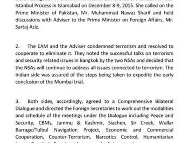 India, Pakistan to Restart Dialogue, Says Sushma Swaraj