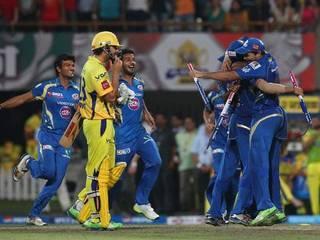 मुंबई इंडियंस की जीत का जश्न