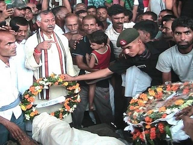 तस्वीरों में देखिए शहीद प्रेमनाथ का अंतिम संस्कार