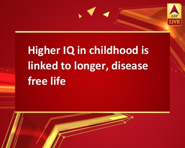 Higher IQ in childhood is linked to longer, disease free life