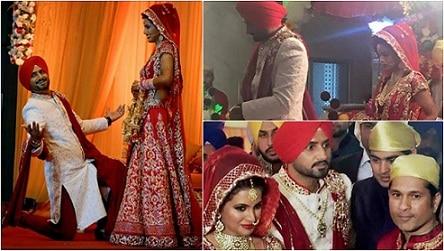 Happily Married: Harbhajan Singh And Geeta Basra Tie The Knot