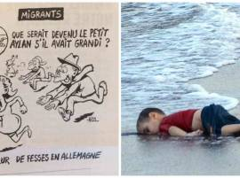 Charlie Hebdo depicts drowned child Aylan Kurdi as sex attacker