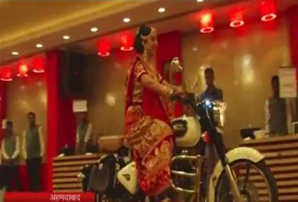 Bullet Rani: Bride enters marriage hall on bike in Ahmedabad!