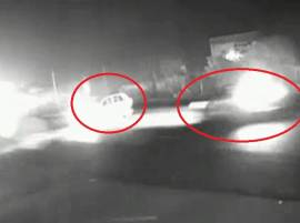 Caught on camera: Speeding car crashes with another on highway in Rajkot