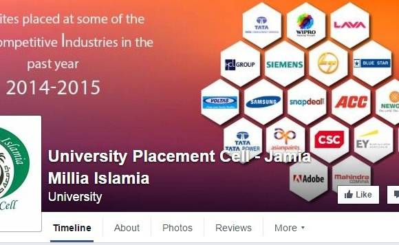 Jamia launches official Facebook page of its Placement cell