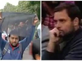 Congress vice president Rahul Gandhi shown black flags on JNU campus