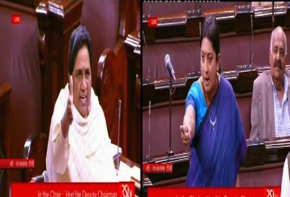 Will you cut your head and offer now? Mayawati reminds Smriti Irani of 'unsatisfactory' answer
