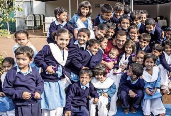 Salman Khan shoots with children for 'Sultan'
