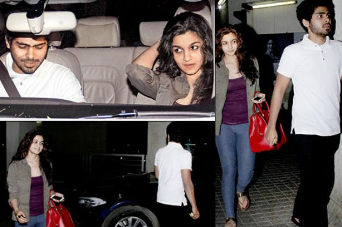 Alia and her ex-boyfriend Ali. They were caught together by media when they were spending time with each other.