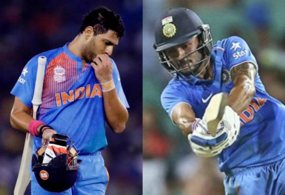 Yuvraj Singh out of World T20 with ankle injury, Manish Pandey named replacement