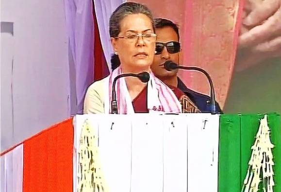 Centre trying to topple all Congress ruled states: Sonia Gandhi