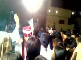 Watch: Groom gets shot in celebratory firing during wedding ceremony in Haryana's Hisar