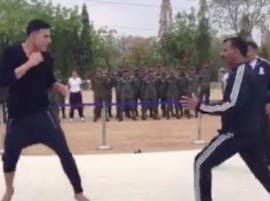 Watch: When Akshay Kumar shows his martial art skills to IPS officers in Hyderabad