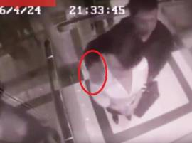 Caught on CCTV: Pervert tries to grope woman inside lift, watch what happens next
