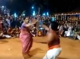 Kerala: Watch this 76-yr-old woman performs martial arts with man half her age