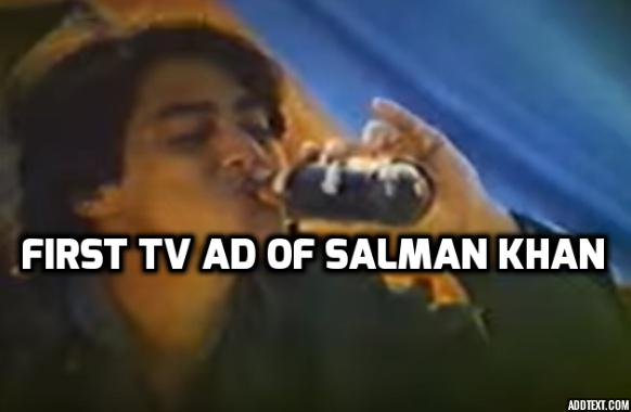 video here�s salman khan�s first ad as a 15yearold in
