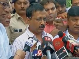 Delhi CM Arvind Kejriwal meets Gujarat Dalit victims