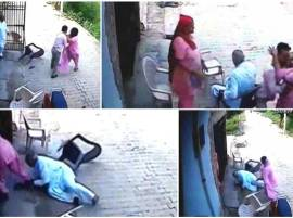 Shocking footage: Watch how this woman mercilessly beats husband & in-laws in Gurgaon