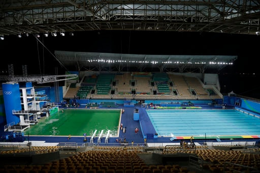 Rio 2016: Olympic diving pool closed after water turns green