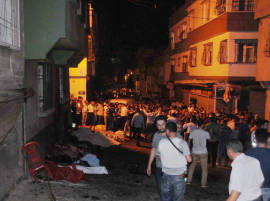 30 killed, 94 hurt in suspected suicide attack at wedding in Turkey