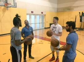 IN PICS: Ashwin, Dhawan & Bhuvneshwar Learn Basketball With Miami Heat