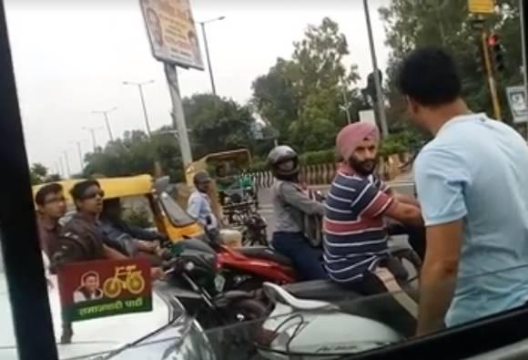 Noida: 'VIP' bullies common man at traffic signal, threatens man filming the incident