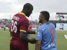 IND v WI 2nd T20: Dhoni wanted to play but Brathwaite refused