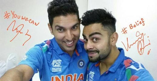 Image result for virat kohli and yuvraj singh