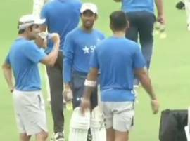 Kohli, Gambhir share light moments during practice session