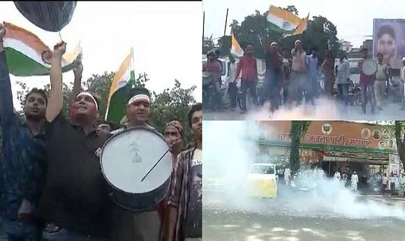 Celebration Pictures From Across The Nation After Indian Army