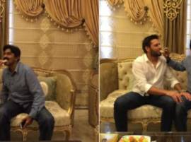 Spat between Shahid Afridi & Javed Miandad ends, make up over sweets