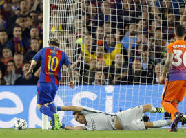 Messi ruins Guardiola's return to Camp Nou with hat-trick