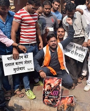 Hindu Sena Workers Stage Protest Against