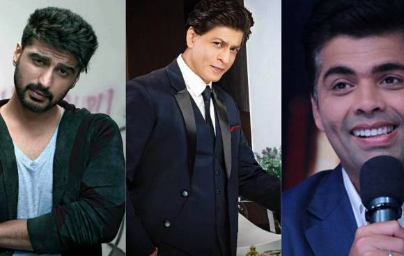 Image result for lux golden rose awards 2016 Shahrukh Khan, Karan Johar & Arjun Kapoor