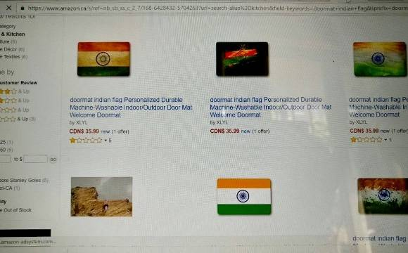 Amazon Canada sells Indian flag as doormats, Sushma directs action, says 'This is unacceptable'