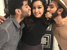 Shraddha Kapoor shares an adorable picture with Aditya Roy Kapur and Ranveer Singh