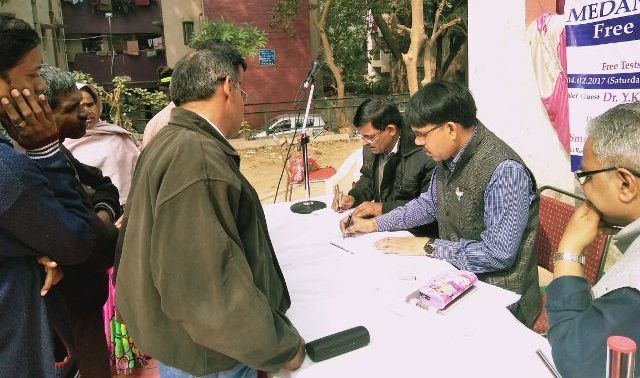 Free health check up camp organised in Delhi