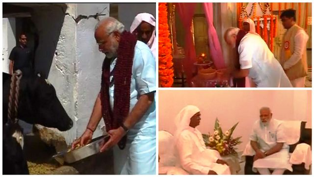 Political significance of Gadwaghat Ashram where PM Modi fed cows: 5 key points